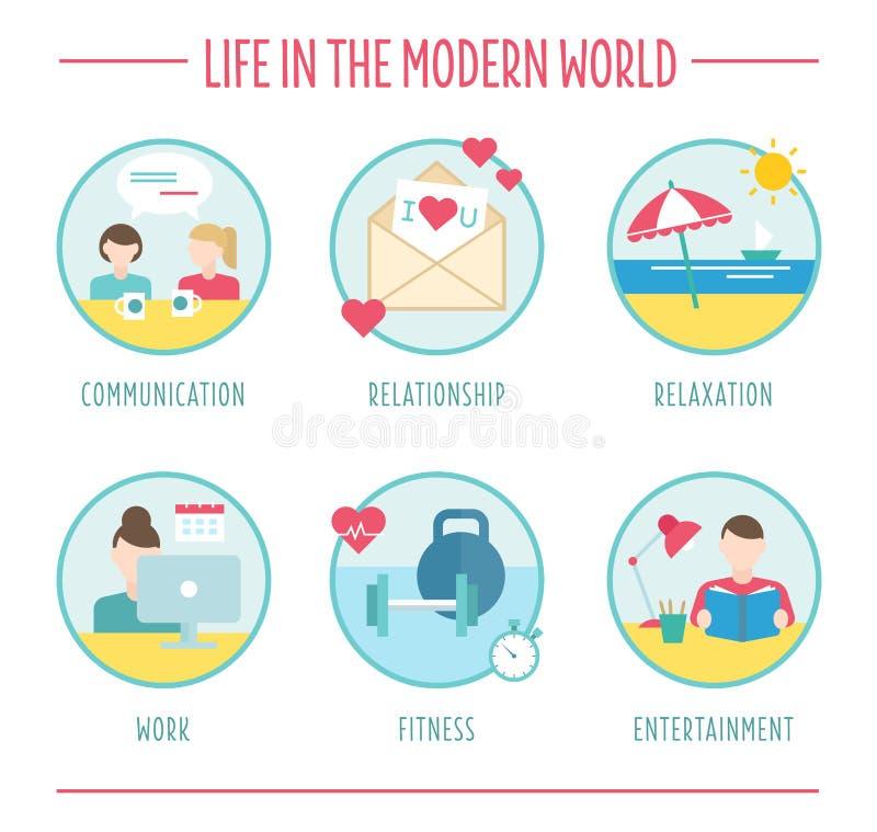 Элементы образа жизни для infographics, плоского вектора бесплатная иллюстрация