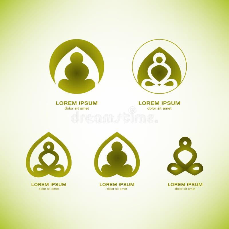 Элементы логотипа йоги вектора стоковое изображение rf