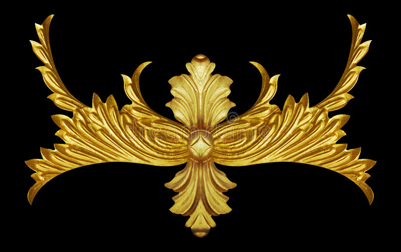 Элементы орнамента, винтажное золото флористическое стоковые изображения rf