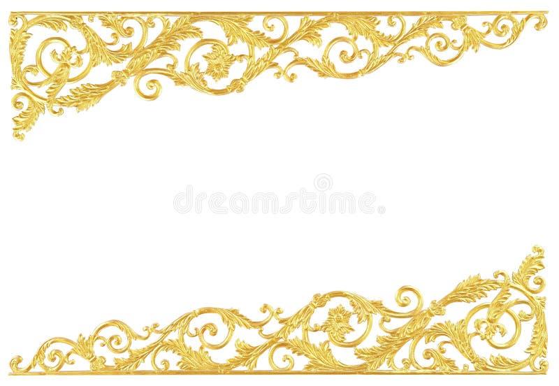 Элементы орнамента, дизайны винтажного золота флористические стоковое фото