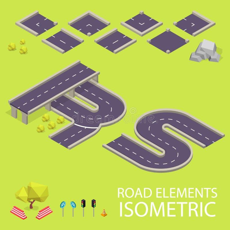 Элементы дороги равновеликие Шрифт дороги Письма r и иллюстрация вектора