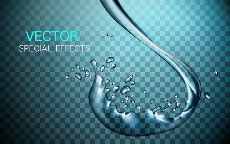 Элементы подачи воды иллюстрация штока
