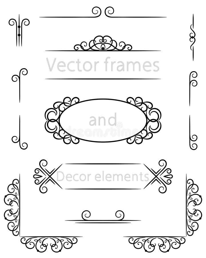 Элементы рамки и оформления вектора стоковая фотография rf