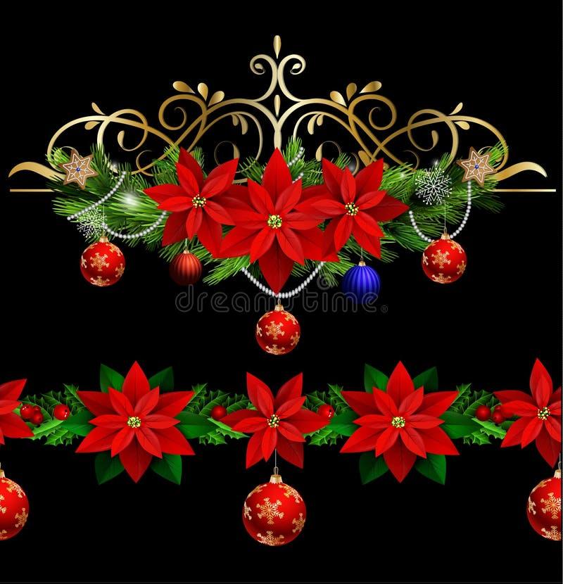 Download Элементы рождества для ваших дизайнов Иллюстрация вектора - иллюстрации насчитывающей poinsettia, элемент: 81807010