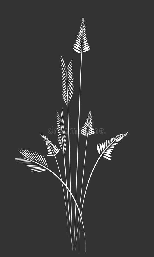 Элементы силуэта травы иллюстрация штока