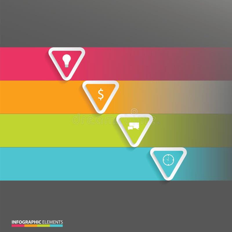 Элементы современного варианта origami конспекта вектора infographic бесплатная иллюстрация