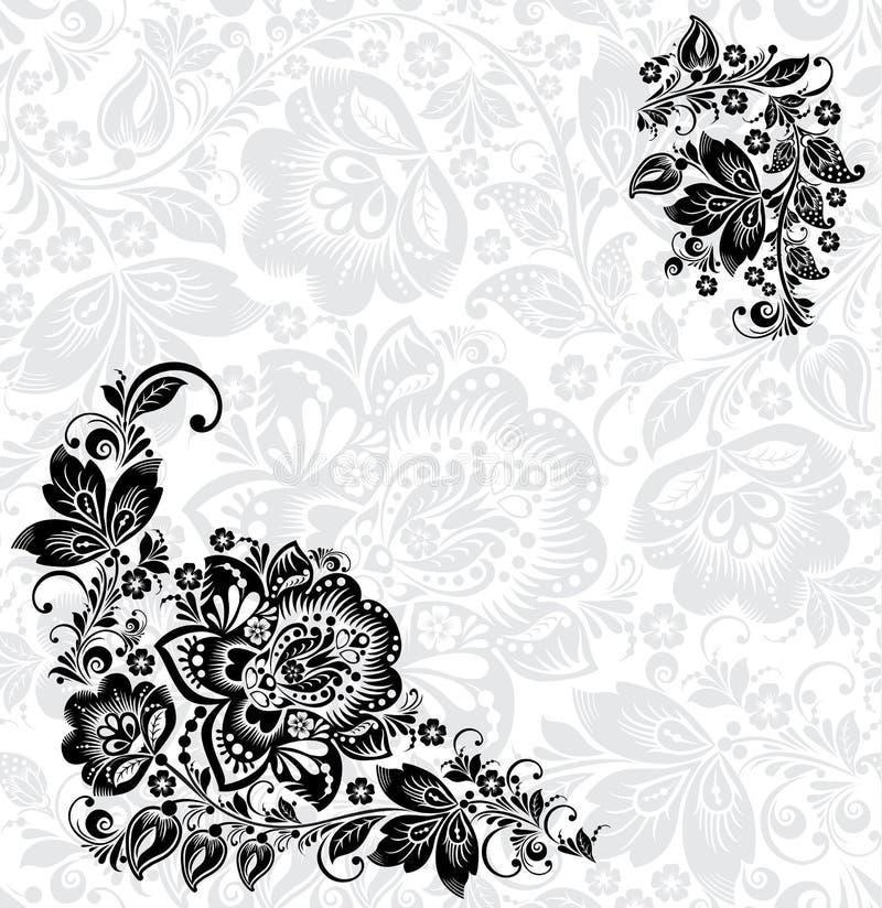 Элементы флористического дизайна вектора абстрактные бесплатная иллюстрация