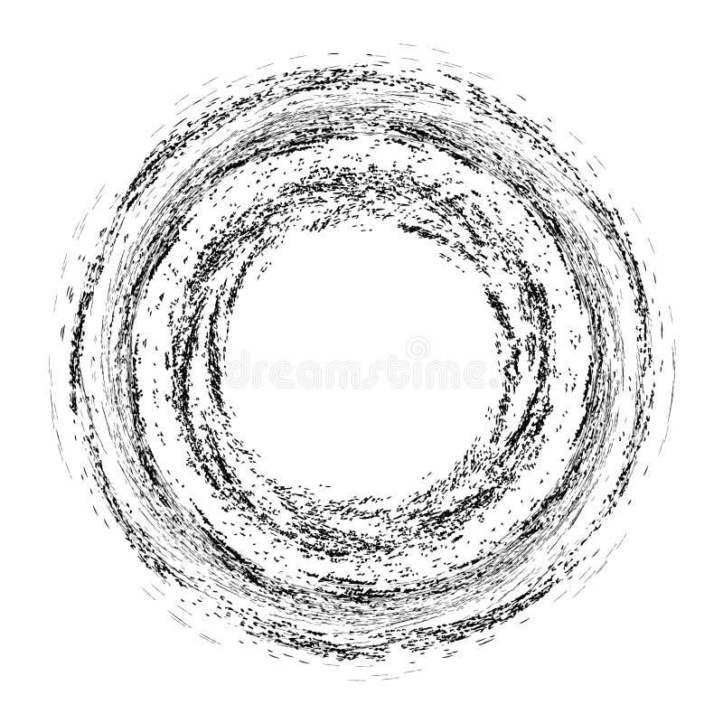Элементы Grunge круглые иллюстрация вектора