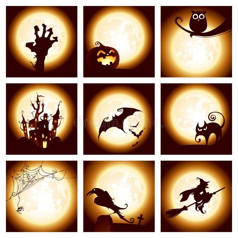 элементы halloween собрания иллюстрация штока