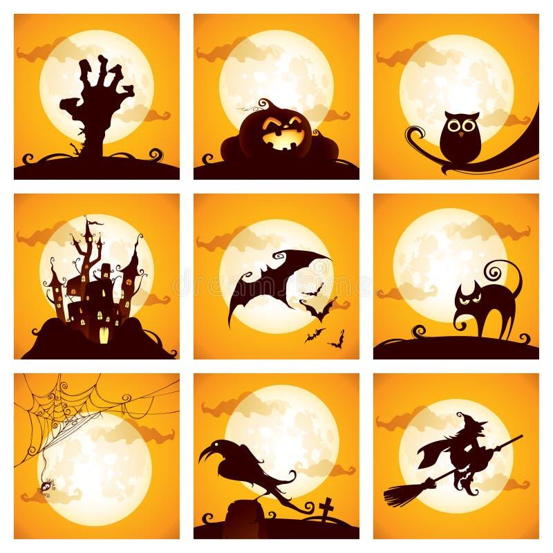 элементы halloween собрания бесплатная иллюстрация