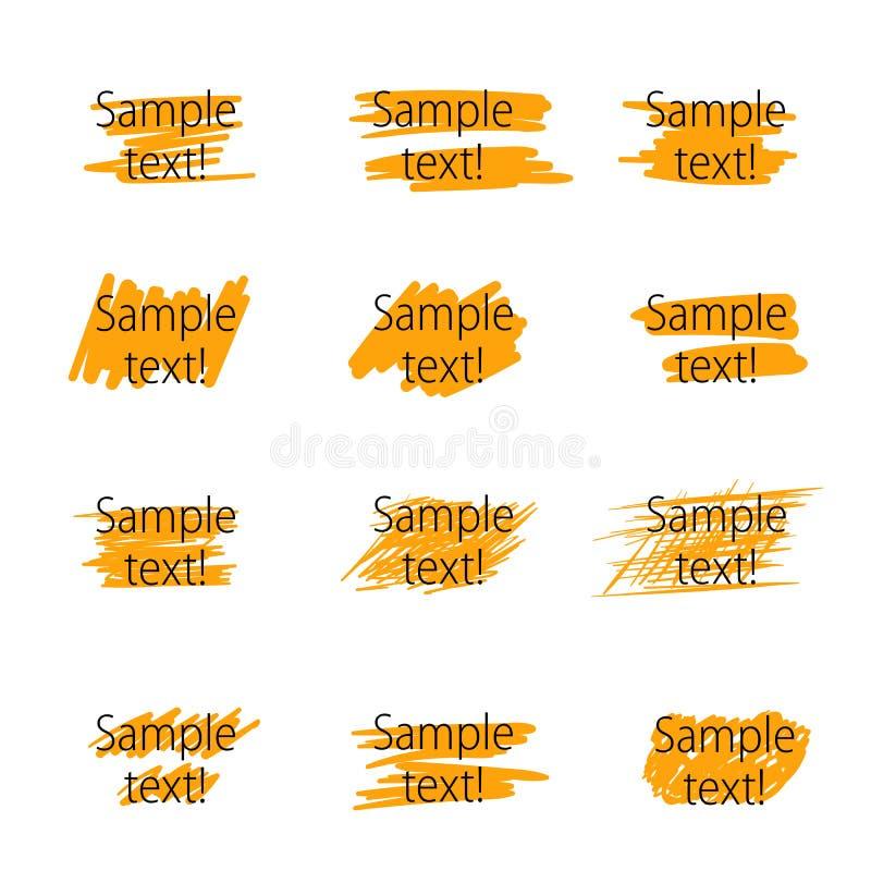 Элементы highlighter вектора иллюстрация штока