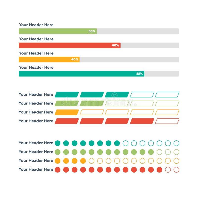 элементы infographic Бар прогресса стоковые изображения rf