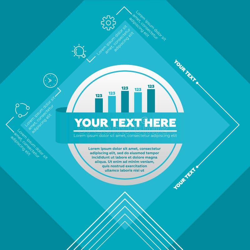 Элементы Infographic - диаграмма в виде вертикальных полос и значки стоковое изображение