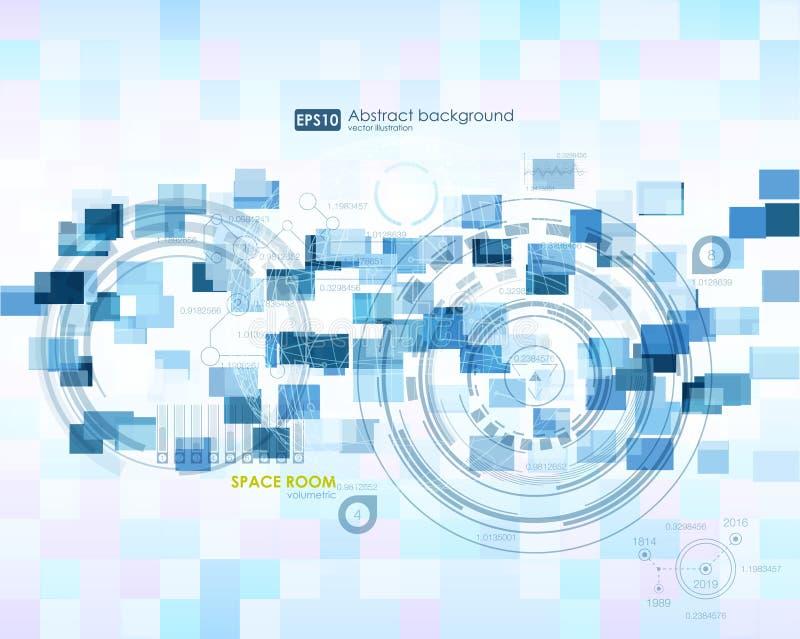 элементы infographic Футуристический пользовательский интерфейс HUD Абстрактная предпосылка с соединяясь точками и линиями соедин иллюстрация штока