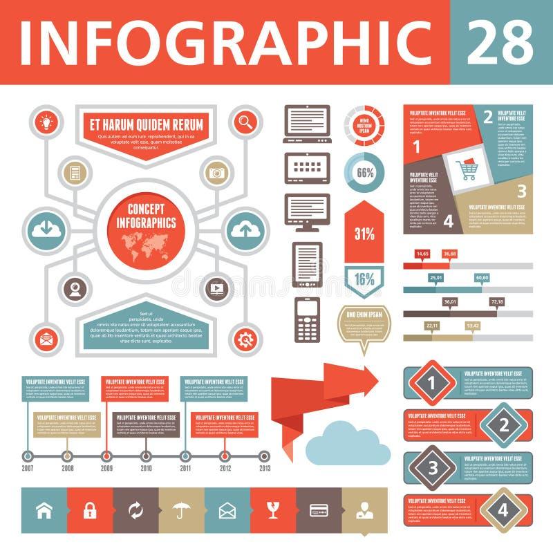 Элементы 28 Infographic иллюстрация вектора
