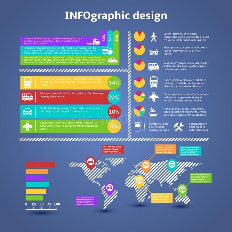 Элементы infographics движения перехода бесплатная иллюстрация