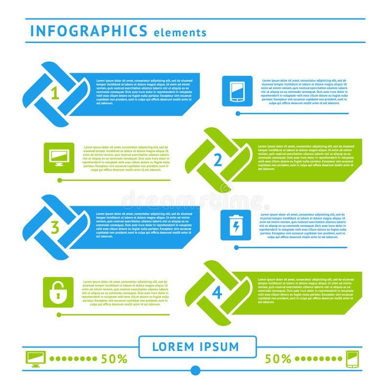 Элементы infographics сети. Шаблон дизайна иллюстрация штока