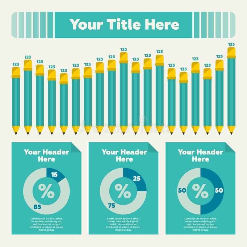 Элементы Infographics стоковое изображение