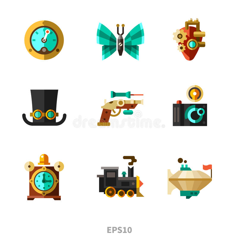Элементы Steampunk иллюстрация штока