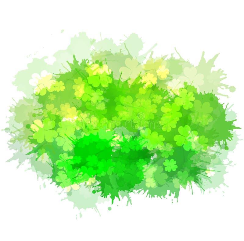 Элемент вектора с счастливым клевером 4-лист бесплатная иллюстрация