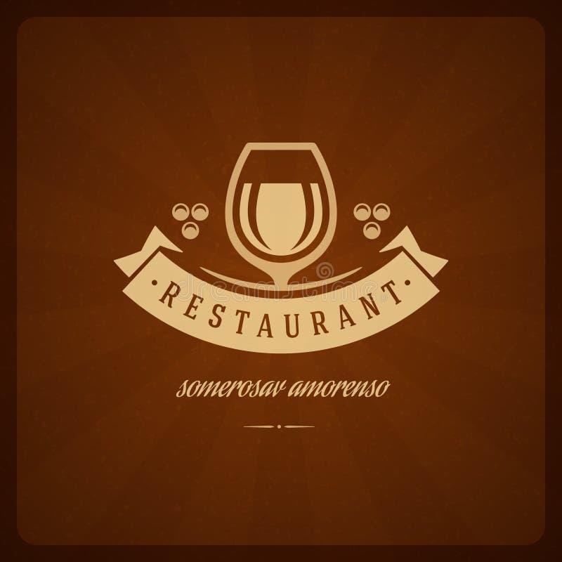 Элемент дизайна магазина ресторана в винтажном стиле иллюстрация вектора