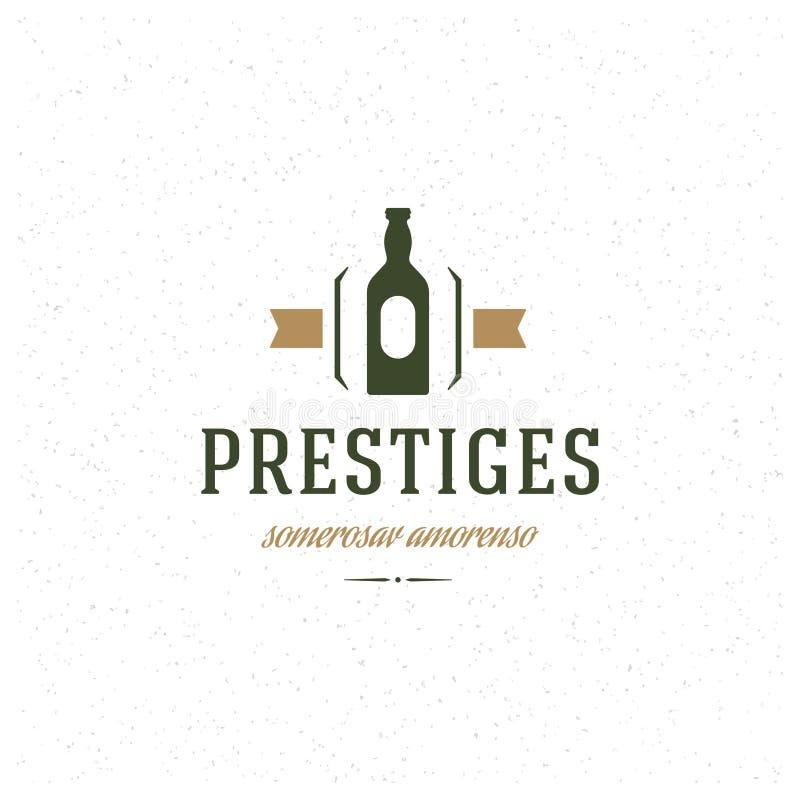 Элемент дизайна магазина ресторана в винтажном стиле иллюстрация штока