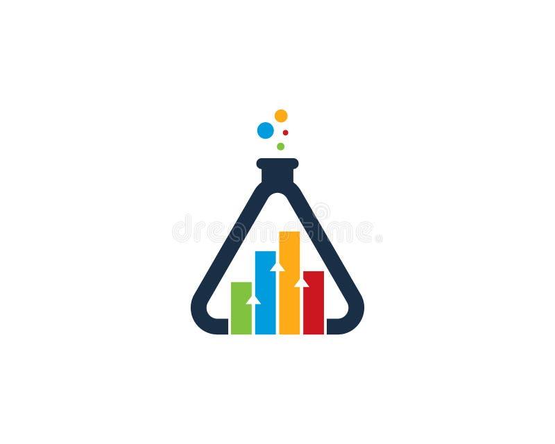 Элемент дизайна логотипа значка научной лаборатории отчете о Stats бесплатная иллюстрация