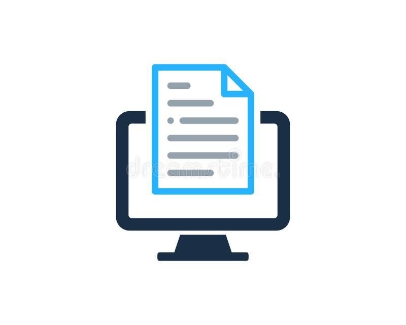 Элемент дизайна логотипа значка документа ПК компьютера иллюстрация вектора