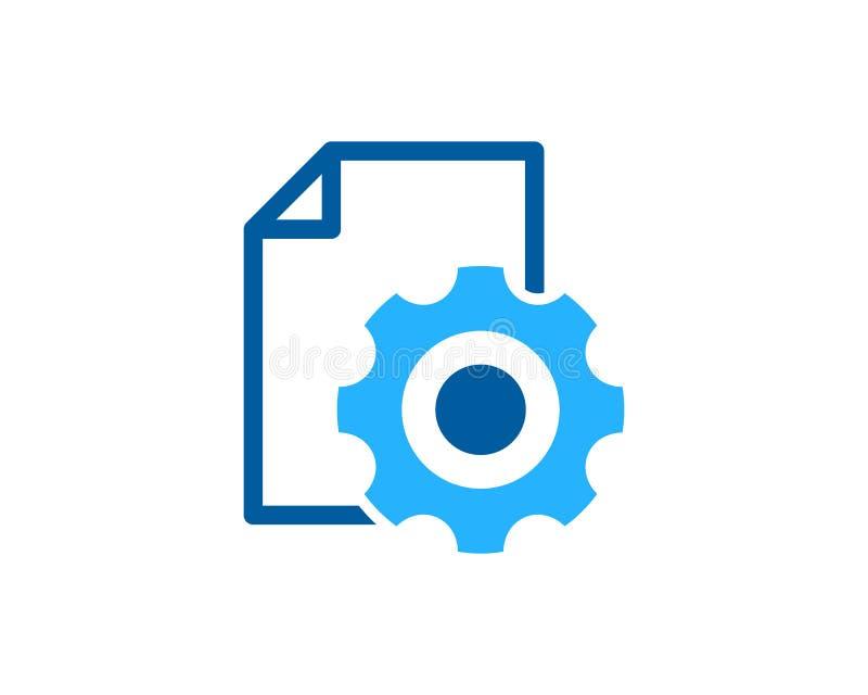 Элемент дизайна логотипа значка отчете о инструмента шестерни бесплатная иллюстрация