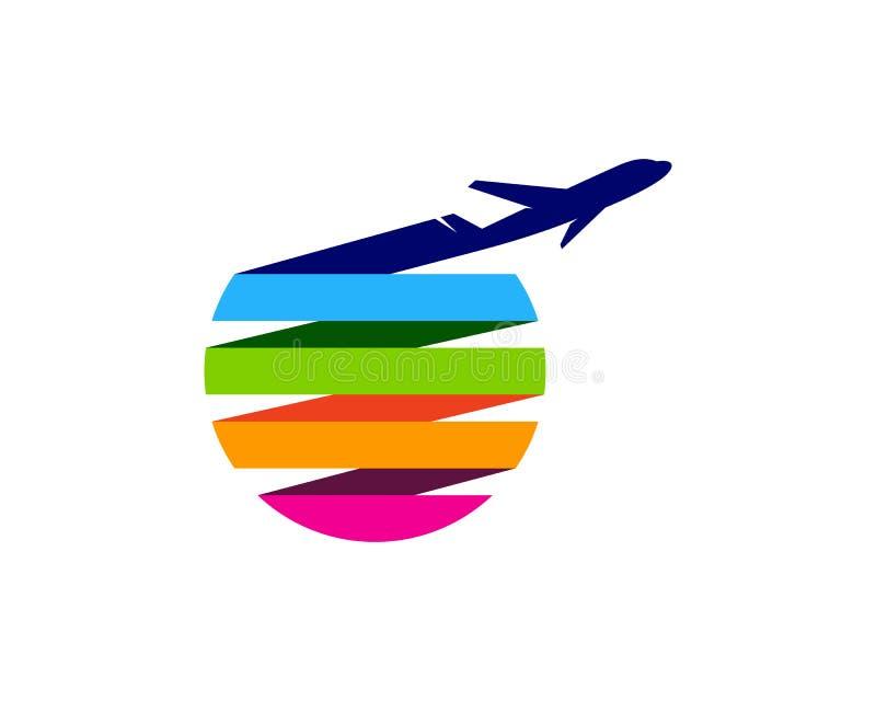 Элемент дизайна логотипа значка перемещения иллюстрация штока