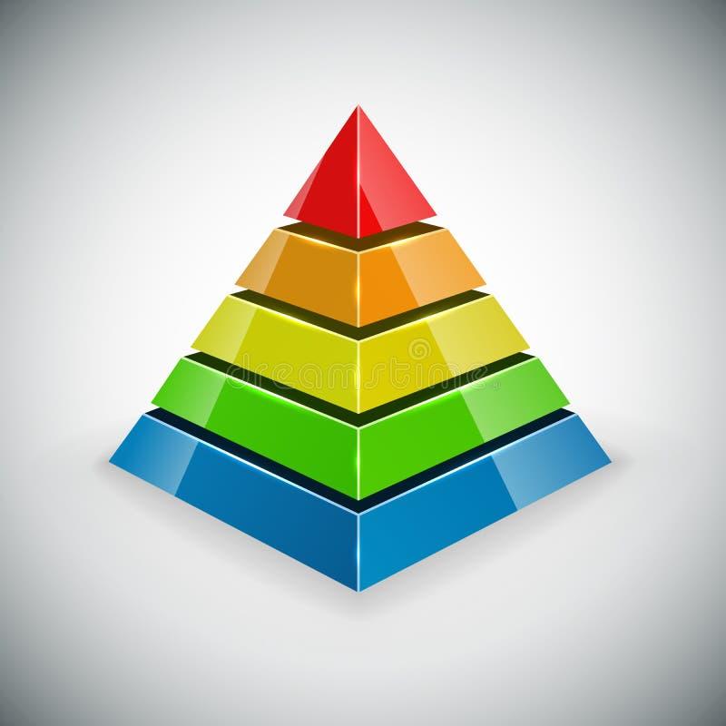 Элемент дизайна пирамиды иллюстрация штока