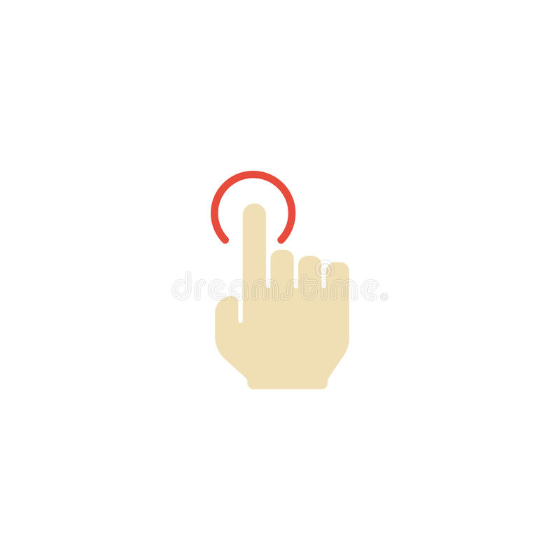 Элемент крана плоского значка одиночный Изолированная иллюстрация вектора плоского толчка локтем значка иллюстрация штока