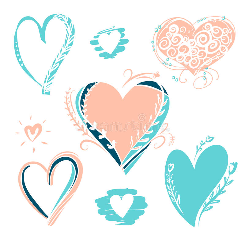 Элемент нарисованного свободной рукой плаката оформления Стильная иллюстрация иллюстрация вектора