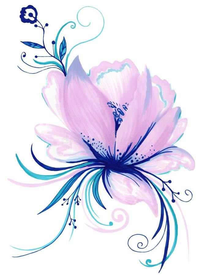 Элемент творческого цветка лилии декоративный бесплатная иллюстрация