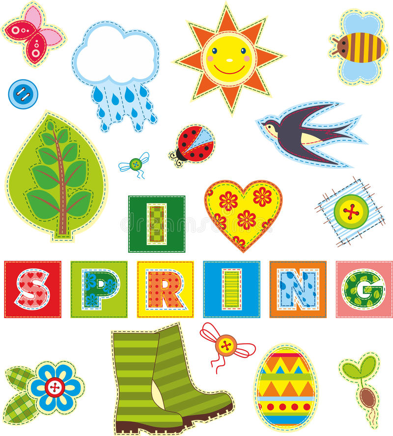 Элемент ткани весны установленный стоковые изображения