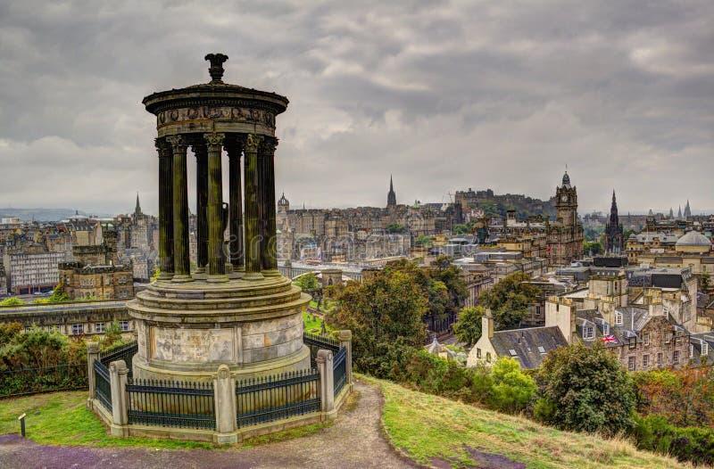 Эдинбург от холма Carlton стоковые изображения