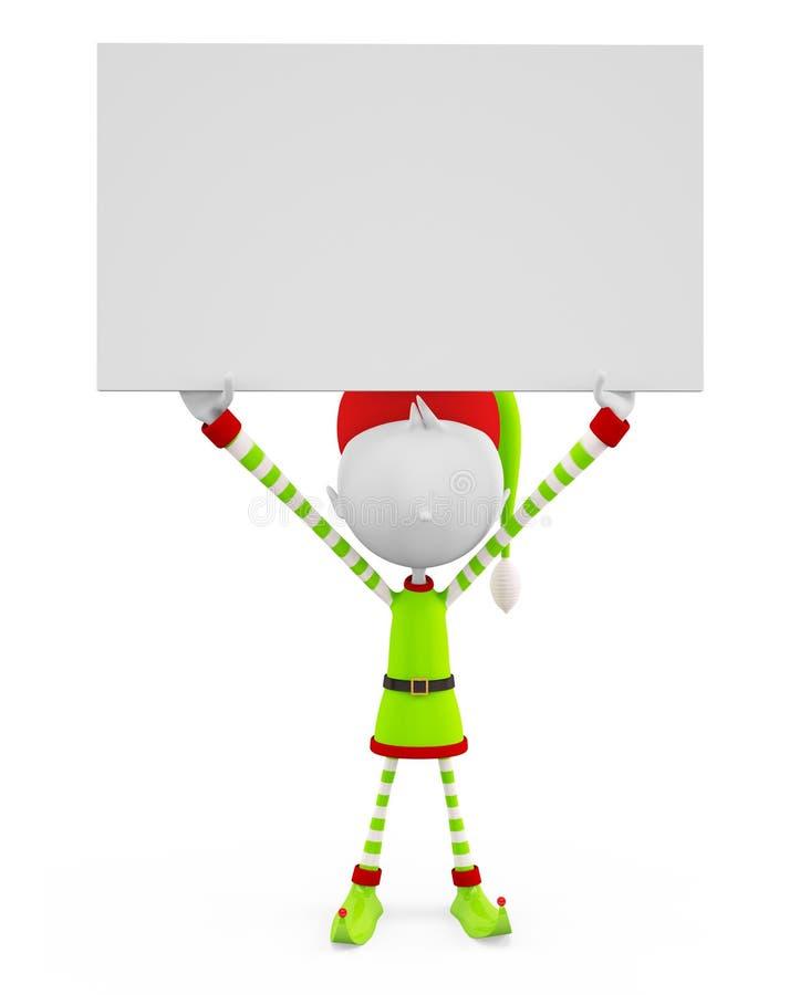 эльфы 3d с доской знака иллюстрация штока