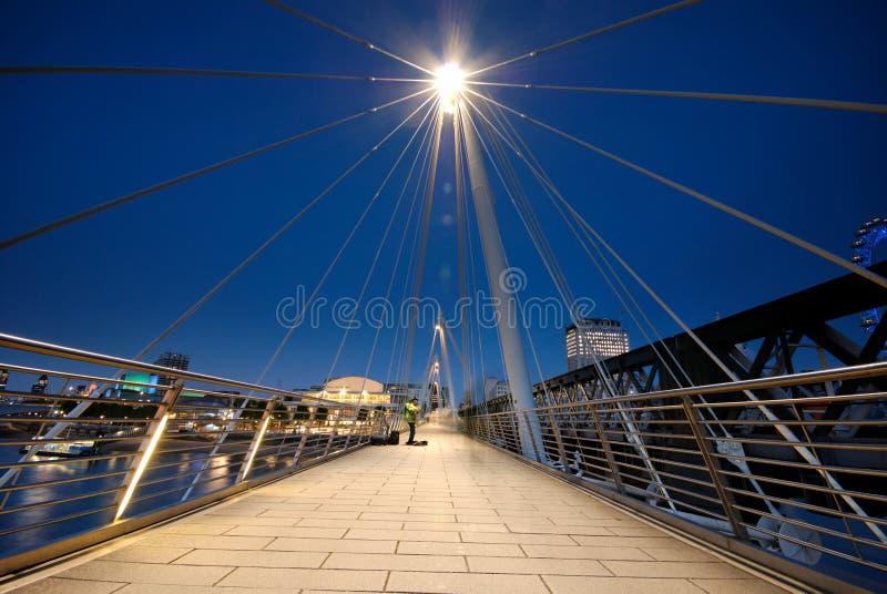 юбилей footbridges золотистый стоковая фотография rf