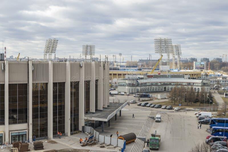 Юбилей резвится дворец, стадион Petrovsky стоковое изображение rf