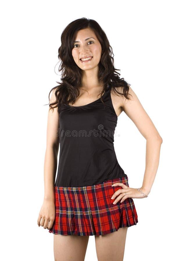 юбка азиатской девушки сексуальная короткая стоковая фотография rf