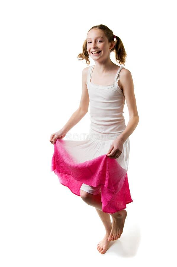 Download юбка девушки милая стоковое изображение. изображение насчитывающей весна - 18393909
