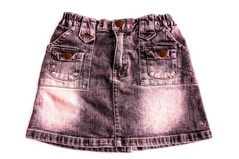 Юбка джинсовой ткани женщин стоковые фотографии rf