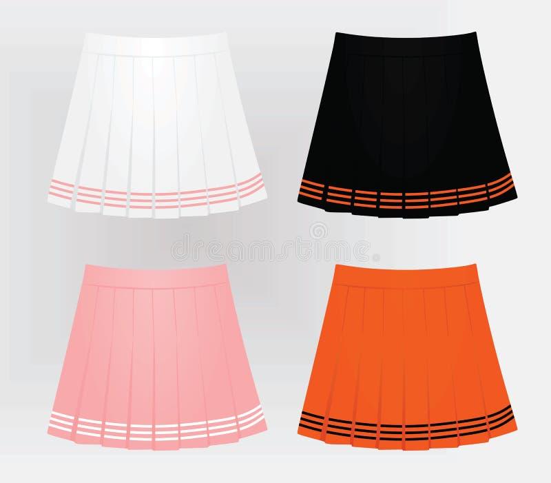 4 юбки женщин иллюстрация штока