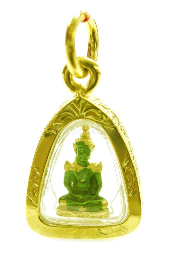 Ювелирные изделия Будды камеи золота привесные изолированные на белизне стоковые изображения rf