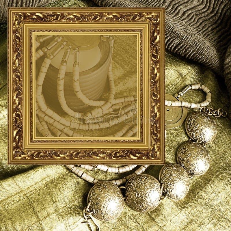 ювелирные изделия рамки предпосылки искусства стоковые фото