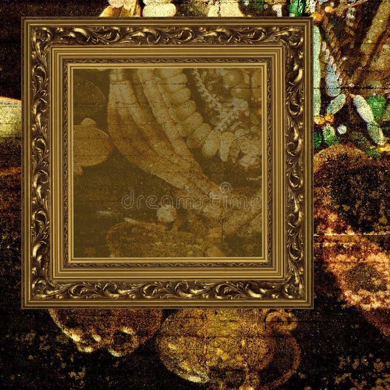 ювелирные изделия рамки предпосылки искусства стоковое изображение