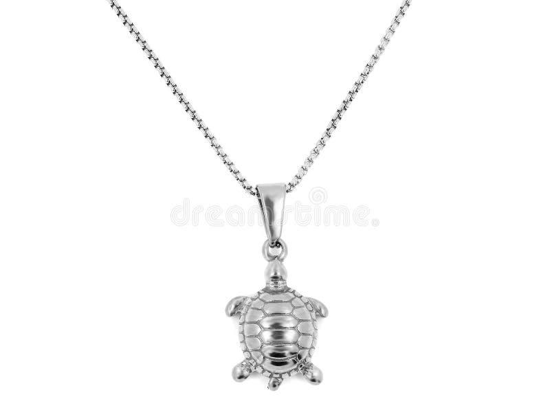 Ювелирные изделия шеи Шкентель черепахи нержавеющая сталь револьвера 375 больших винных бутылок стоковые изображения