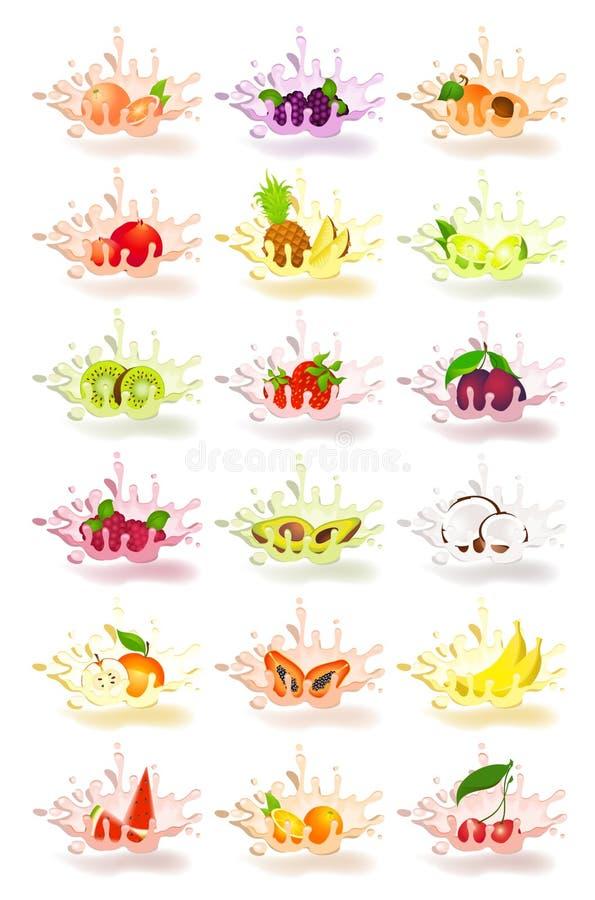 югурт свежих фруктов бесплатная иллюстрация