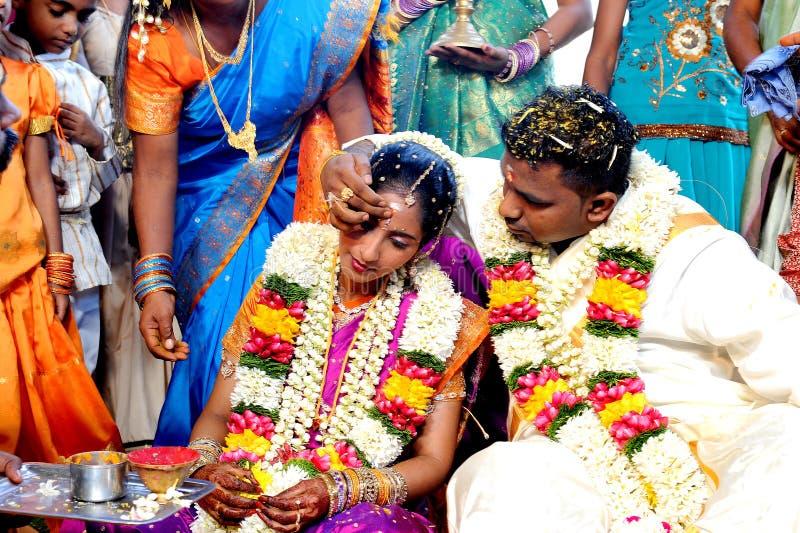 Южная азиатская свадьба стоковое фото