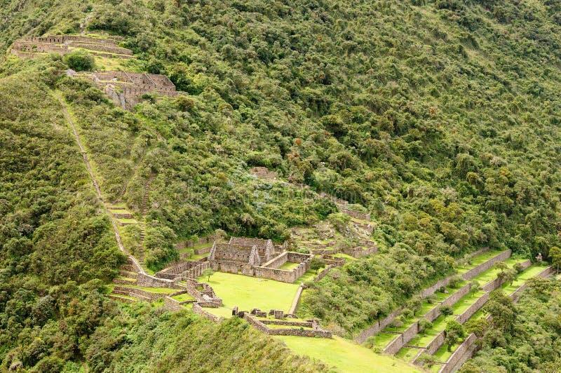 Южная Америка - Перу, руины Inca Choquequirao стоковое изображение rf